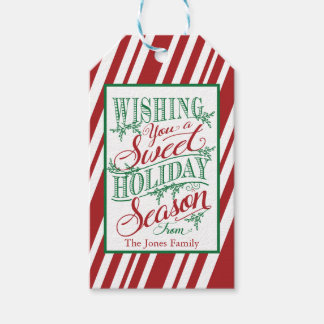 Wishing You a Sweet Holiday Season Gift Tag Pack Of Gift Tags