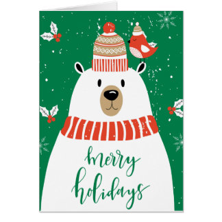 Wishing You a Very Beary Christmas Card
