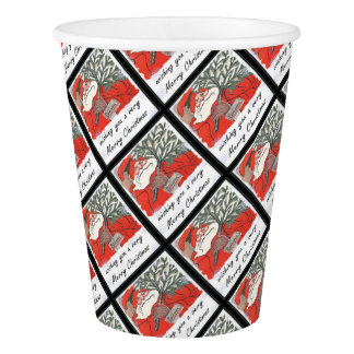 Wishing You A Very Merry Christmas Paper Cup