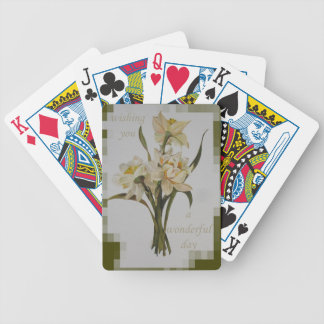 Wishing You A Wonderful Day Bicycle Playing Cards