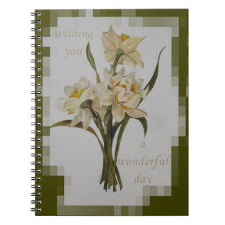 Wishing You A Wonderful Day Spiral Notebook