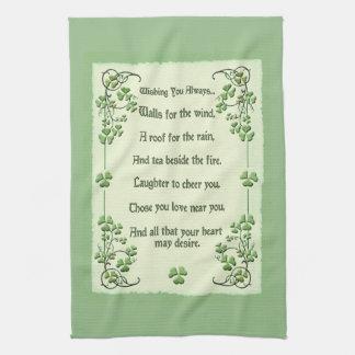Wishing You Always Irish Blessing Kitchen Towel