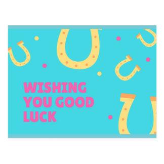 Wishing you good luck postcard