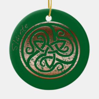 Wishing you Health- Slainte Round Ceramic Ornament