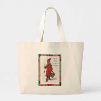 Wishing You Health, Wealth and Happiness Large Tote Bag