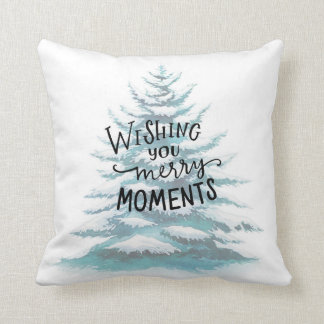 wishing you merry moments throw pillow