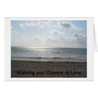 Wishing you Oceans of Love Card