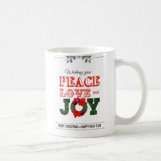 Wishing you peace love and Joy Mug