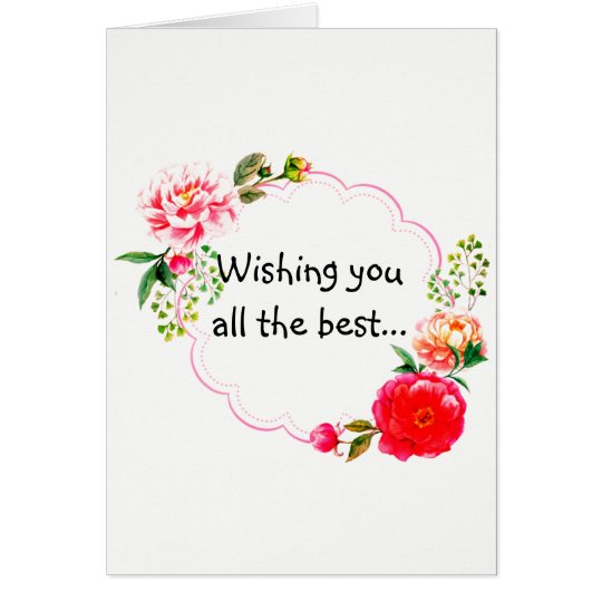 Wishing You the Best Get Well Card