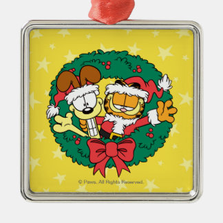 Wishing You the Best of the Season Silver-Colored Square Ornament
