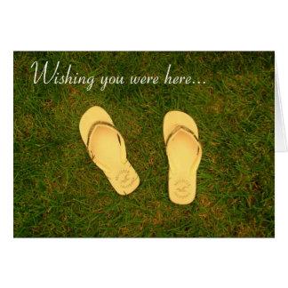 Wishing you were here greeting card