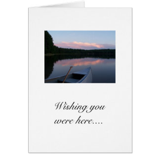 Wishing you were here... notecard stationery note card