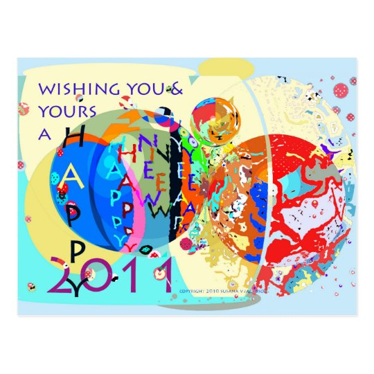 Wishing You & Yours A Happy New Year Postcard