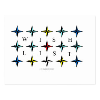 Wishlist, Make a List, Dreams Come True! Postcard