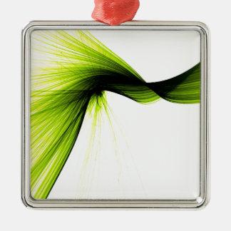 wisp splash Silver-Colored square ornament
