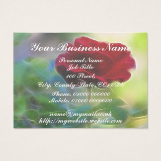 Wisper Softly, Romantic Red Rose Business Card