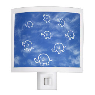 Wispy Cloud Elephants Night Light
