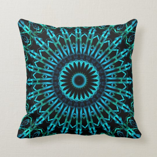 Wispy Looking Glass Mandala 2 Throw Pillow