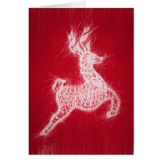 Wispy Reindeer Card