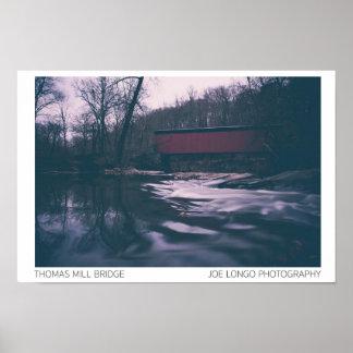 WISSAHICKON CREEK Collection - Thomas Mill Bridge Poster