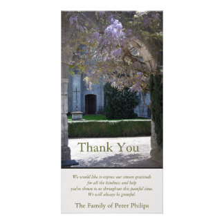 Wisteria 1 Christian Sympathy Thank You Card