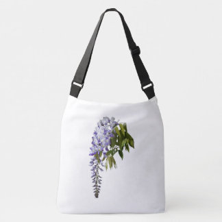 Wisteria and Leaves Crossbody Bag