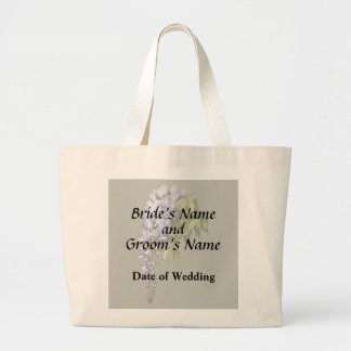 Wisteria and Leaves Wedding Supplies Large Tote Bag