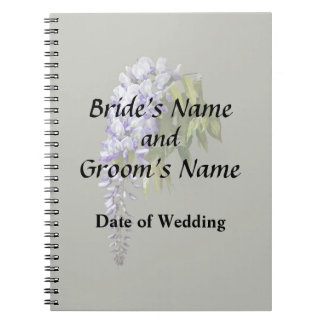 Wisteria and Leaves Wedding Supplies Spiral Notebook