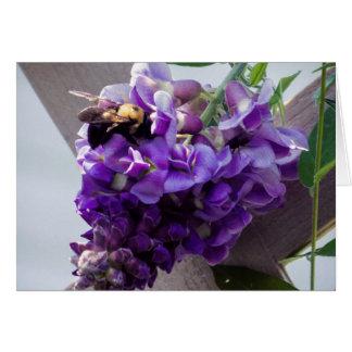 Wisteria & Bee Card