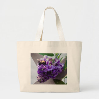 Wisteria & Bee Large Tote Bag