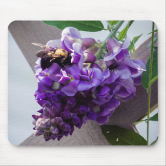 Wisteria & Bee Mouse Pad
