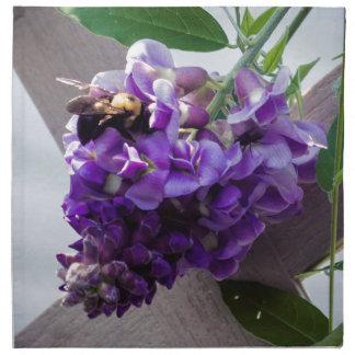Wisteria & Bee Napkin