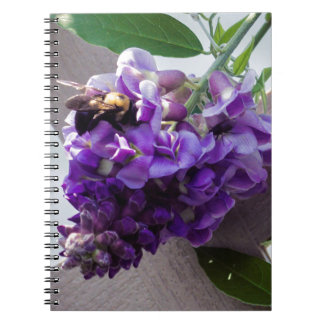 Wisteria & Bee Spiral Note Book