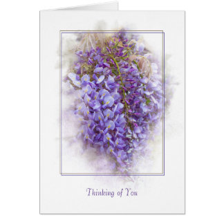 wisteria blossoms-thinking of you card