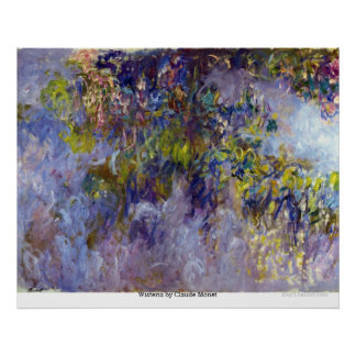 Wisteria by Claude Monet Poster