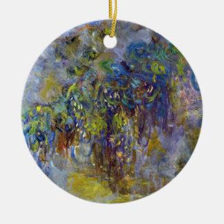 Wisteria by Claude Monet, Vintage Impressionism Ceramic Ornament