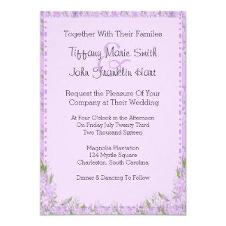 Wisteria Flowers Wedding Invitation