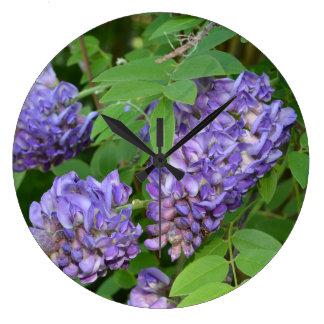 Wisteria in Bloom Large Clock