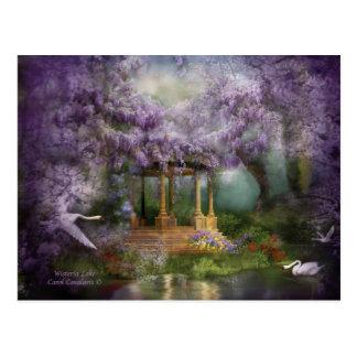 Wisteria Lake Art Postcard