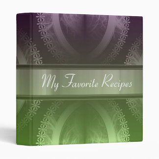 Wisteria Lime Smoke Recipe Book 3 Ring Binder