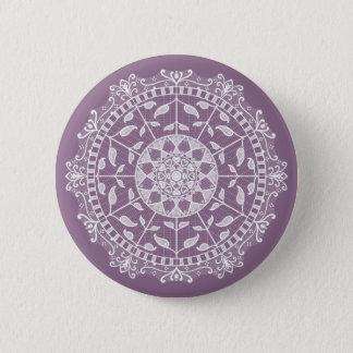 Wisteria Mandala 2 Inch Round Button