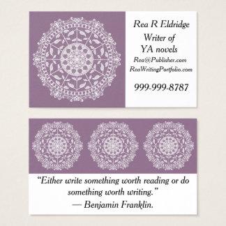Wisteria Mandala Business Card