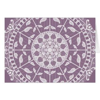 Wisteria Mandala Card