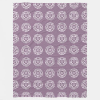 Wisteria Mandala Fleece Blanket