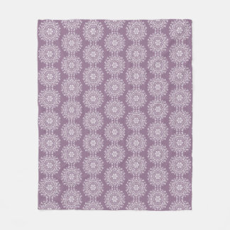 Wisteria Mandala Fleece Blanket