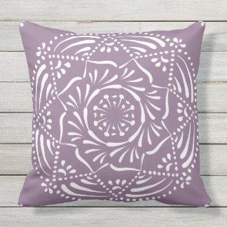 Wisteria Mandala Outdoor Pillow