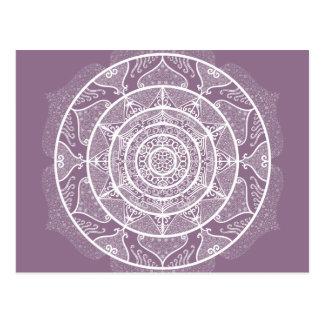 Wisteria Mandala Postcard