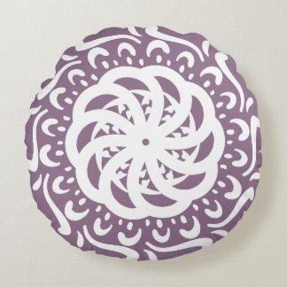 Wisteria Mandala Round Pillow