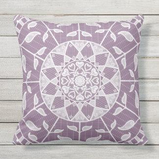 Wisteria Mandala Throw Pillow