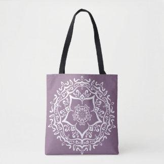 Wisteria Mandala Tote Bag